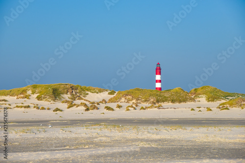 Leinwanddruck Bild Insel Amrum am sonnigen Hersttag