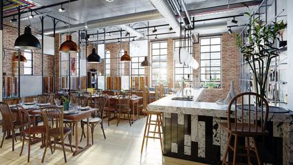 modern restaurant interior design.