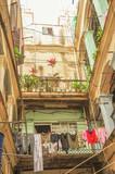 Old courtyard in Havana. Cuba.