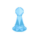 Isolated geometric pawn chess piece. Vector illustration design