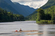 Jacques-Cartier national park in the Laurentian mountains in Canada