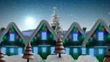 Snow scenery with houses - 235709706