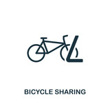 Bicycle Sharing icon. Premium style design from public transport icon collection. UI and UX. Pixel perfect Bicycle Sharing icon for web design, apps, software, print usage.