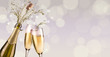 splashing champagne background - 235726193