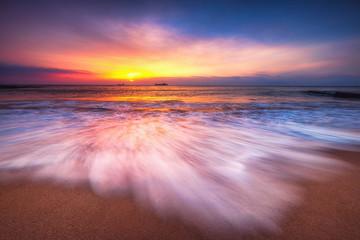 Beautiful sunrise over the sea © ValentinValkov