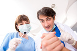 Concept of treating teeth at dentists