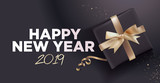 Happy New Year 2019. Vector illustration concept for background, greeting card, website and mobile website banner, party invitation card, social media banner, marketing material. - 235776727