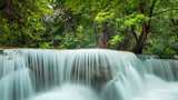 waterfall in deep tropical rain forest