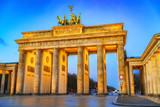 Brandenburg gate at dusk, Berlin - 235823747