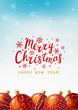 Christmas greeting card with red balls 2 - 235839516