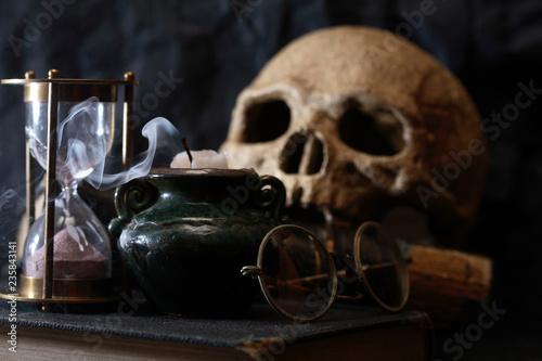 Leinwandbild Motiv Ancient Science Concept