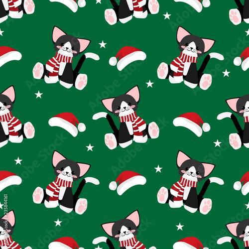 fototapeta na ścianę Christmas holiday season seamless pattern.