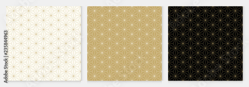 fototapeta na ścianę Background pattern seamless cube and triangle abstract gold luxury color geometric vector.