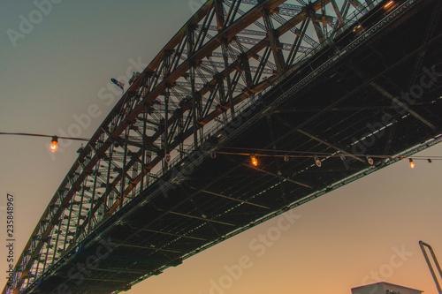 fototapeta na ścianę Harbour Bridge at night