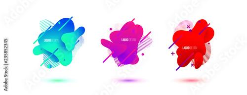 Abstract design set of liquid shapes - 235852345