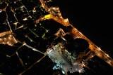 Cadiz von oben bei Nacht