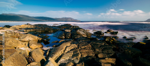 Beautiful view of Cloudy Bay in Bruny Island, Tasmania, Australia. - 235860503