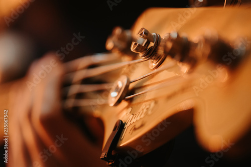 details of a guitar player