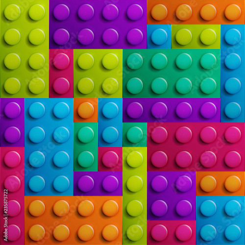 Color constructor blocks seamless background © Anna
