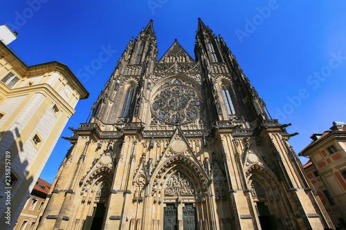 Prague, Czech Republic, September 20, 2018. Gothic Catholic Cathedral of St. Vito in Prague Castle