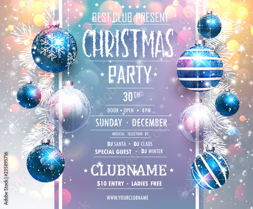 Christmas Party Design Template. Vector
