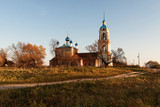 Church of the Icon of the Mother of God Smolenskaya in autumn furniture