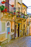 glimpse of the historic center of Scicli Sicily Italy © maudanros