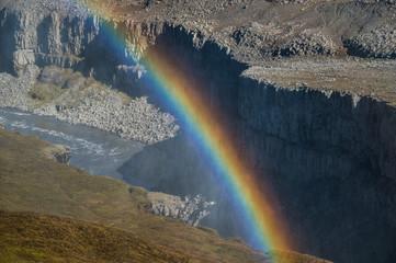 Rainbow over canyon © ggaallaa
