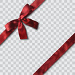 red satin ribbon and bow vector illustration - 235932184