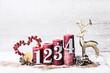 Leinwandbild Motiv Adventsgesteck Kerzen rot