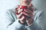 woman hand tea