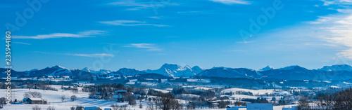 Winterlandschaft im Allgäu mit Bergkette Bayern Deutschland - 235944160