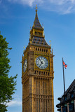 The famous 'Big Ben' housed in the Elizabeth clock tower of Westminster Palace.