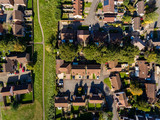 Aerial view of St Mellons Town in Cardiff, Wales UK