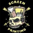 screen printing skull - 235967133