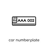 car numberplate icon from Car parts collection.