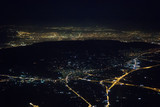 Aerial view of night Athens from the plane. - 235975760