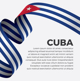 Cuba flag, vector illustration on a white background
