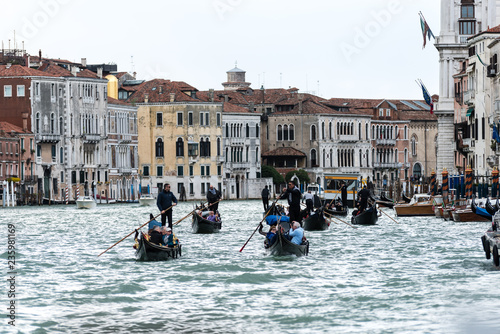 Venetian boats on the water