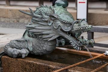 Dragon fountain at the entrance to the Kiyomizu-dera temple in Kyoto © marksteel