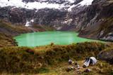 La Laguna Amarilla, all'interno del vulcano El Altar, Ecuador © Emiliano