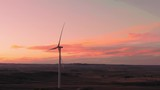 Aerial shots of a wind farm near Calhan in Colorado around sunset - 236014538