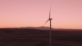 Aerial shots of a wind farm near Calhan in Colorado around sunset - 236027563