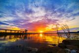 sunset at Lum Chae dam, Nakhon Ratchasima, Thailand © geargodz