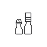 Seasoning bottles outline icon. linear style sign for mobile concept and web design. Salt and pepper shaker simple line vector icon. Symbol, logo illustration. Pixel perfect vector graphics - 236043597