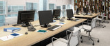 Computer Workplace Inside a Business Center - panoramic 3d visualization - 236064940