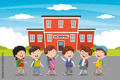 Vector Illustration Of Education Elements - 236067575