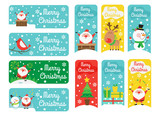 Collection of cute vertical and horizontal Christmas banners. Vector illustration in a flat style.