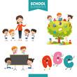 Vector Illustration Of Education Elements - 236068944