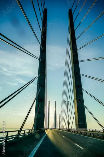 Fototapeta bridge over river, in Norway Scandinavia North Europe